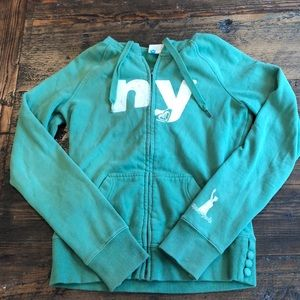 Green New York Roxy Hoodie sweatshirt NY